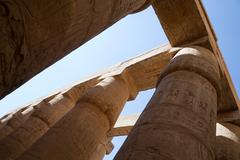 Great hypostyle hall at Karnak Temple - stock photo