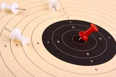 target prevail and win against competitors - stock photo