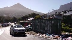 Imazamu Yethu Informal settlement Capetown Stock Footage
