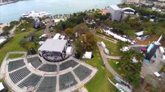 Ultra Music festival setup 2014 Stock Footage