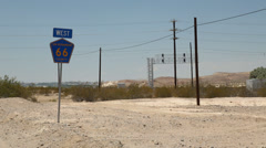 Vintage Route 66 Sign Stock Footage