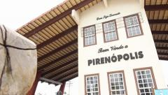 Pirenópolis City Entrance Stock Footage