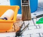 Stock Photo of tools and accessories for home renovation