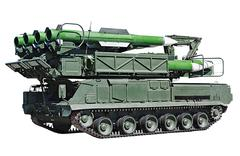 "Pre-loading installing anti-aircraft missile system ""buk-m2"" Stock Photos"