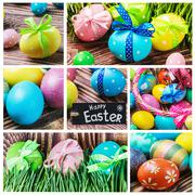 set of decorating eggs - stock illustration
