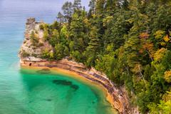 Miner's Castle at Pictured Rocks - stock photo