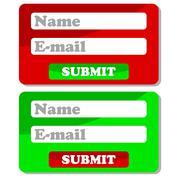 Web forms Stock Illustration