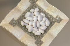 white dragee - stock photo