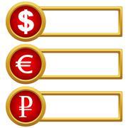 exchange rate icons - stock illustration