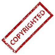 copyrighted stamp - stock illustration