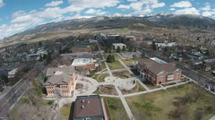 Aerial campus Snow College Ephrain Utah HD 0040 Stock Footage