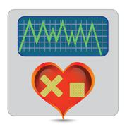 illness heart - stock illustration