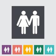 Couple sign Stock Illustration