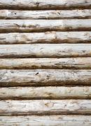 Pine balk wall Stock Photos