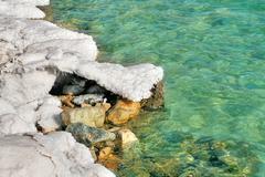 Suola kokoonpanojen Kuolleenmeren Israelissa. Kuvituskuvat