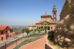 Church of diano d'alba in piedmont, italy Stock Photos