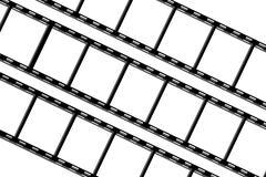 Black film sheet on background white Stock Photos