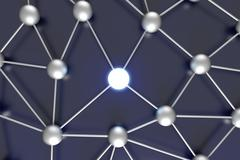 activated network node. - stock illustration