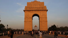 India Gate People Time Lapse - stock footage