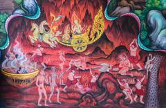 Stock Photo of thai buddhist mural