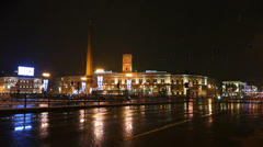 Moskovsky rail terminal at Vosstaniya Square, Saint Petersburg Stock Footage