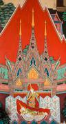 Stock Photo of thai buddhist mural painting