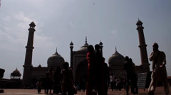 Jama Masjid Time Lapse Stock Footage