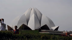 Lotus Temple Time Lapse Stock Footage