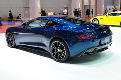 Nonthaburi - 25 maaliskuu: Aston Martin Vanquish coupe esillä 35. kiellon Kuvituskuvat