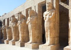 Statues in Karnak temple, Luxor, Egypt - stock photo