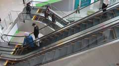 Many people in the mall Stock Footage