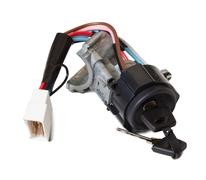 ignition switch with ignition key - stock photo