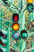 Traffic light signal Stock Photos