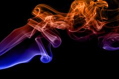 Colored smoke isolated on black background Stock Illustration