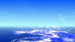 Animated 3D global network. Stock Footage