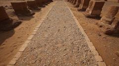 Tilt on the Dakhla Oasis Temple, Egypt Stock Footage