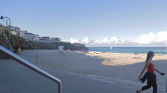 180 pan of bronte beach Stock Footage