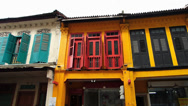 Stock Video Footage of Singapore Little India restored renovated old houses