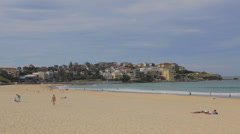 Bondi beach compilation -  sunny weekday at the beach with people and birds Stock Footage