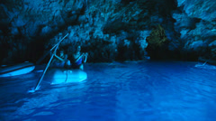Blue cave Stock Footage