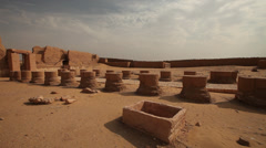 Panoramic view of Dakhla Temple, Egypt Stock Footage