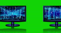 Abstract technological backgrounds on screens of monitors Footage