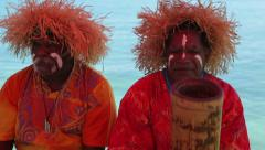 Kanak people of new caledonia play music Stock Footage
