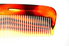 Cropped detail view of a comb Stock Photos