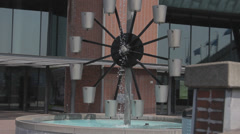 Unusual fountain Stock Footage