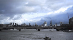River Thames City of London Timelapse - stock footage
