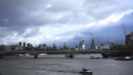 Stock Video Footage of River Thames City of London Timelapse