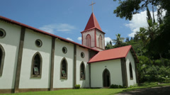 Lady of the assumption church, isle of pines, new caledonia Stock Footage