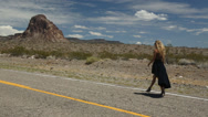 Stock Video Footage of Walking on Route 66