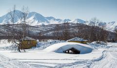 nalychevo nature park. kamchatka, far east. russia - stock photo